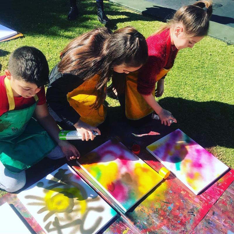 Graffiti Canvas Board Party